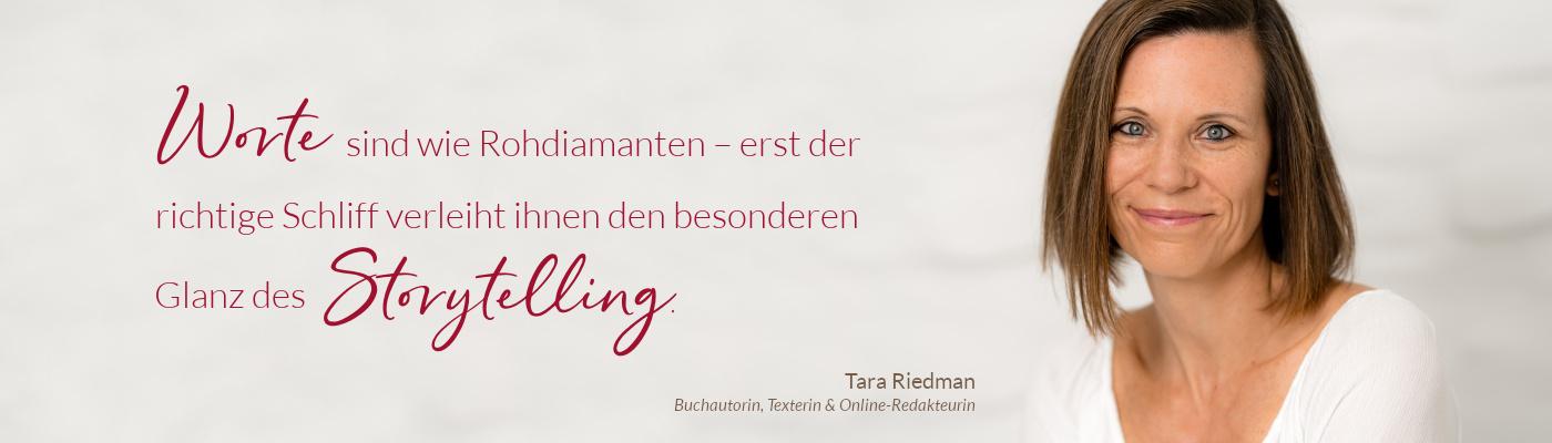 Tara Riedman – Buchautorin, Texterin & Online-Redakteurin
