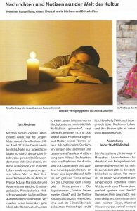 Tara Riedman – Presseartikel im Langenfelder Stadtmagazin vom Juni 2015