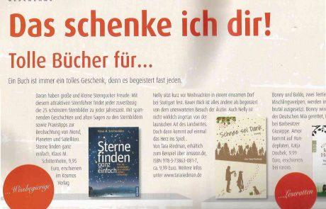 """Buchempfehlung """"Schnee sei Dank"""" in der """"Wohnwelt Weihnachten"""""""